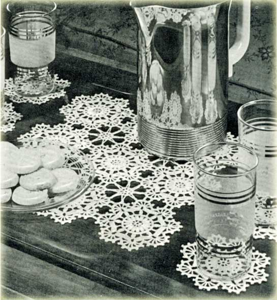 Doily Crochet Patterns - Doilies Crocheted in Rounds starting in