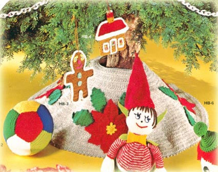 Santa Christmas Tree Skirt Crochet Pattern