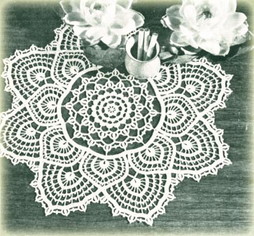 FILET CROCHET DOILY PATTERN - Crochet and Knitting Patterns