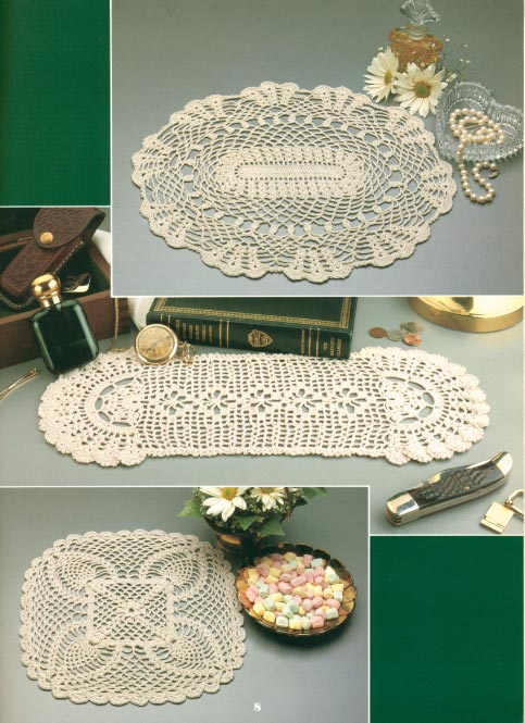 Romantic Pineapples Doily - Crochet Patterns, Free Crochet Pattern