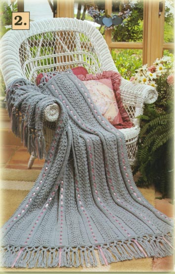 Aran Nosegay Crochet Throw Crochet Pattern | Red Heart