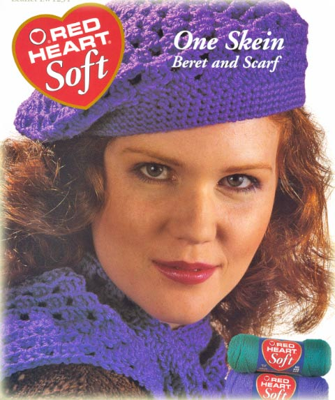 Free Crochet Pattern 30144-C One-Skein Hat and Scarf : Lion Brand