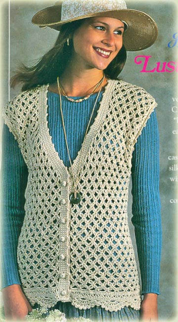 Free Crochet Cotton Vest Pattern : FREE THREAD CROCHET VEST PATTERN