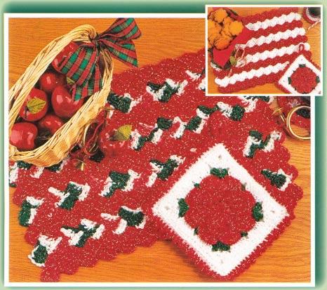 Bernat: Pattern Detail - Handicrafter Cotton - Placemats  Napkin